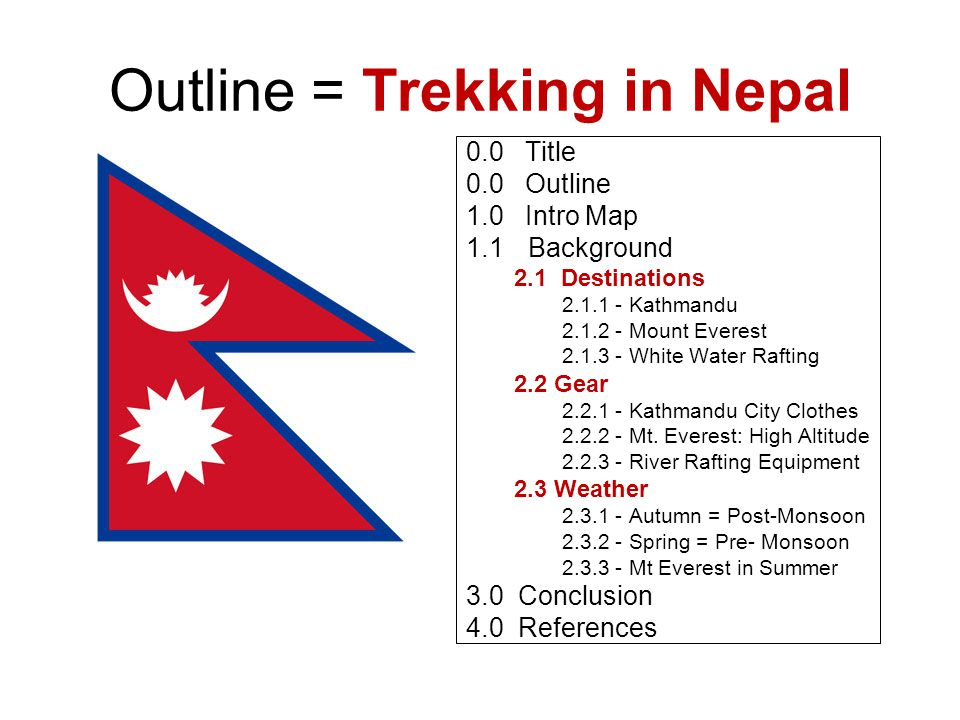 1.0 Where is Nepal?