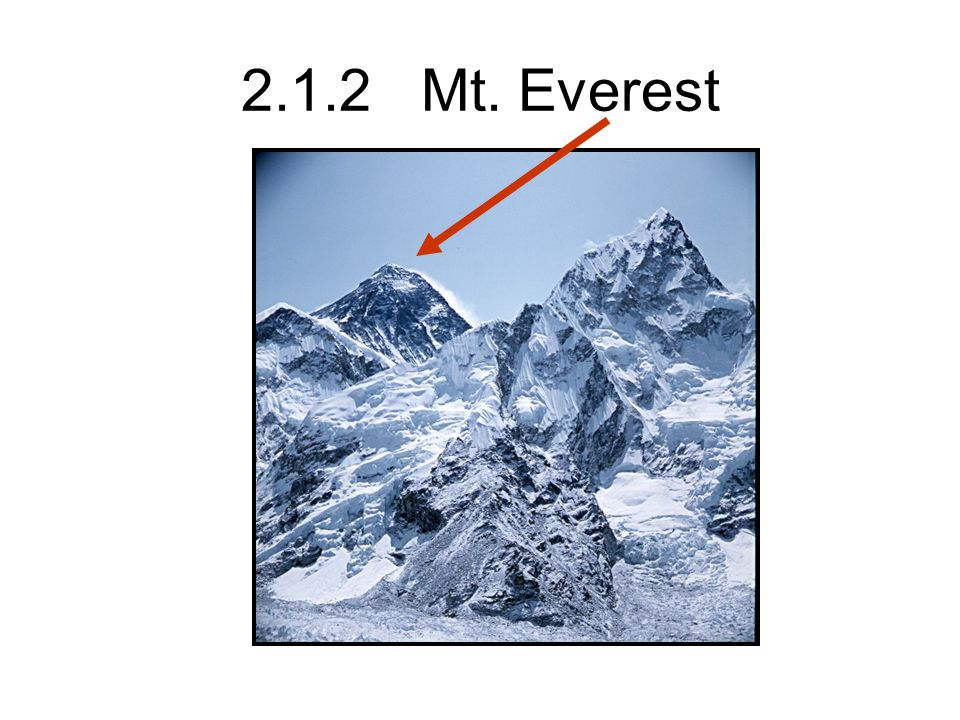 2.1.2 Mt. Everest