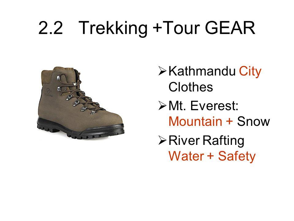 2.2.1 What to Wear in Kathmandu Women: –Cover legs –Pants or Long Skirts Men: –Cover legs –Shirt sleeves