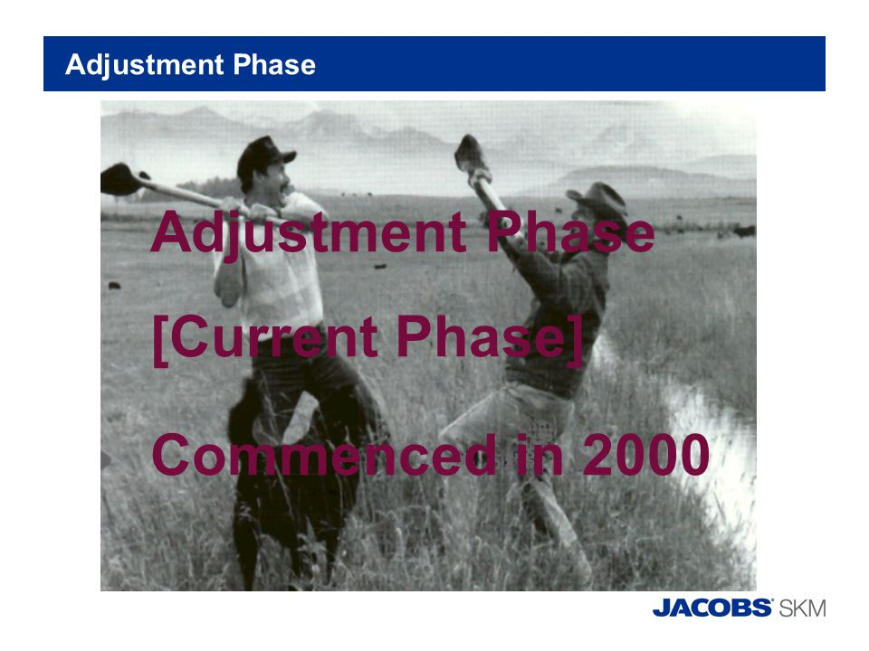 Adjustment Phase Adjustment Phase [Current Phase] Commenced in 2000