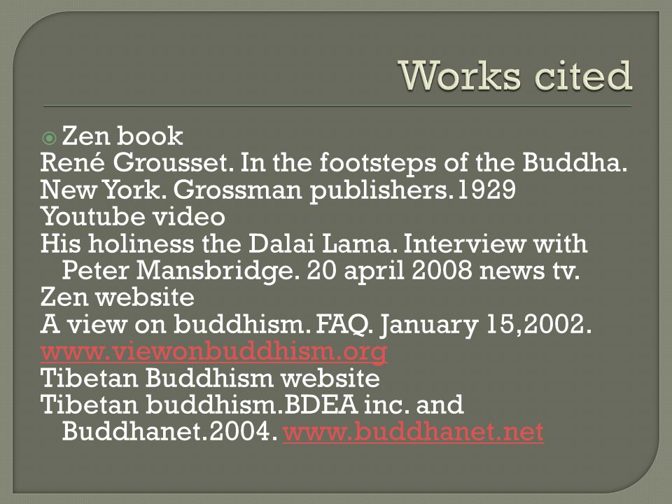  Zen book René Grousset. In the footsteps of the Buddha.