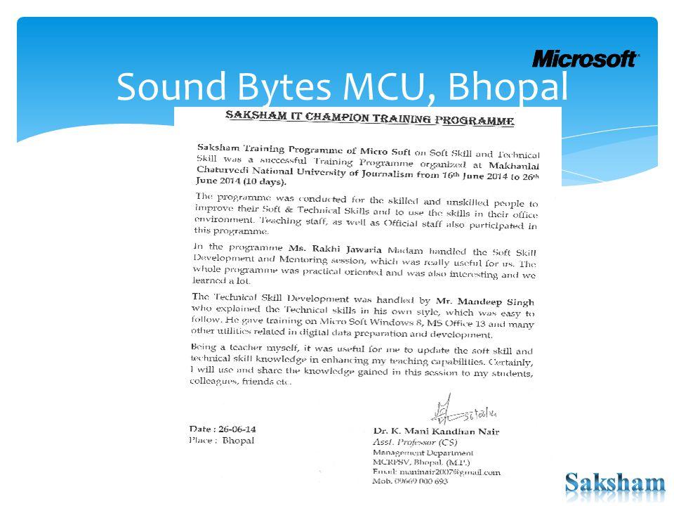Sound Bytes MCU, Bhopal