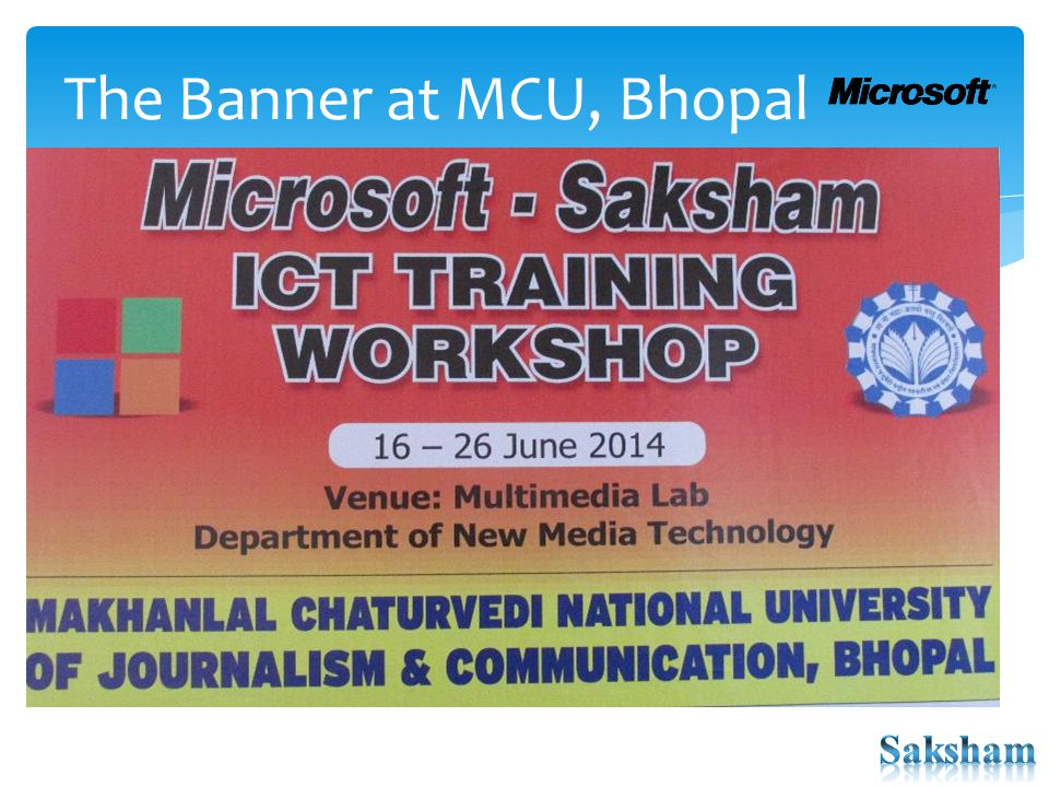 The Banner at MCU, Bhopal