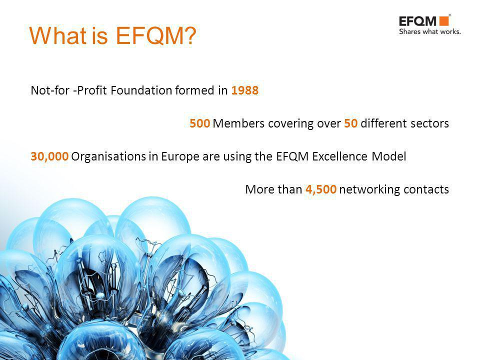 What is EFQM.