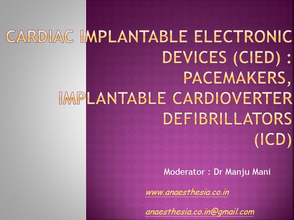 Moderator : Dr Manju Mani www.anaesthesia.co.in anaesthesia.co.in@gmail.com