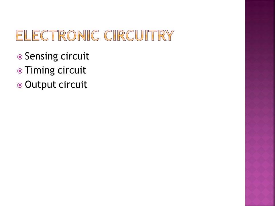  Sensing circuit  Timing circuit  Output circuit