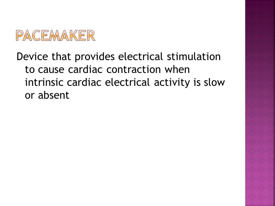 1.Stimulate cardiac depolarization 2. Sense intrinsic cardiac function 3.