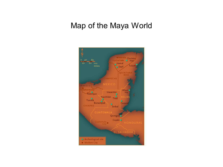 Map of the Maya World