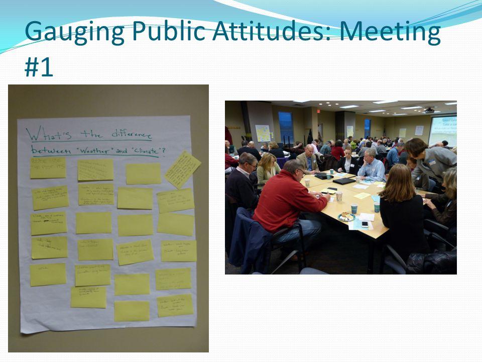 Gauging Public Attitudes: Meeting #1