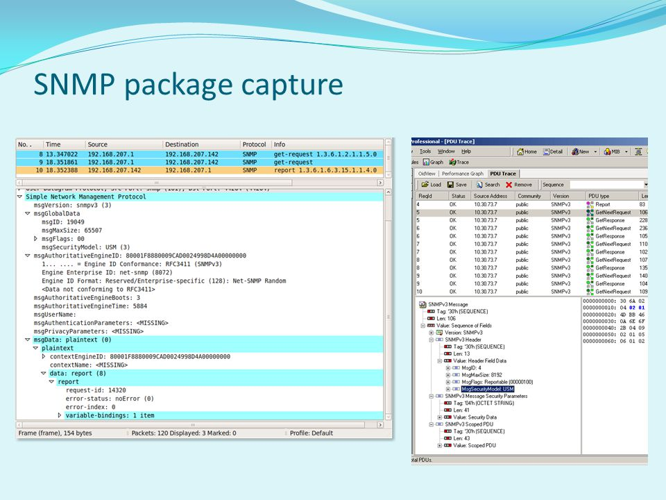 SNMP package capture