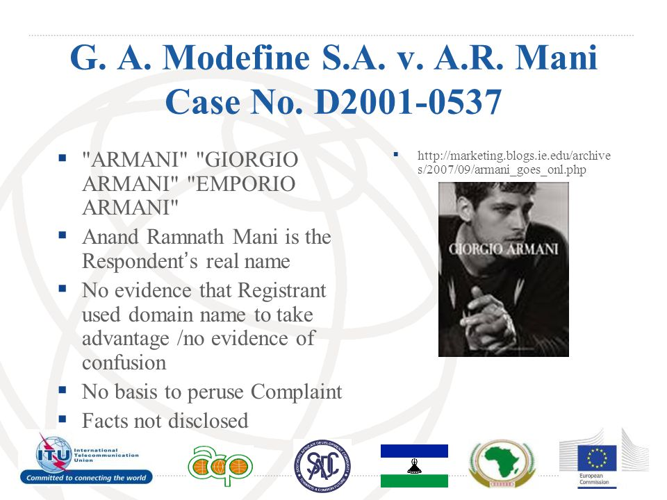 G. A. Modefine S.A. v. A.R. Mani Case No.