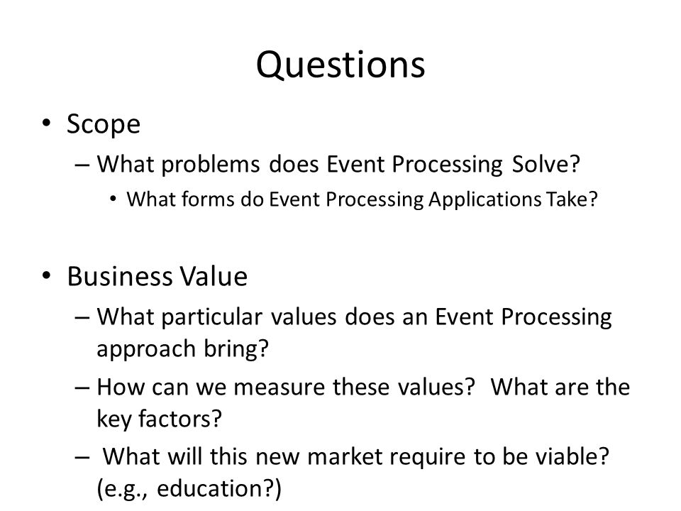 What problems does Event Processing Solve.