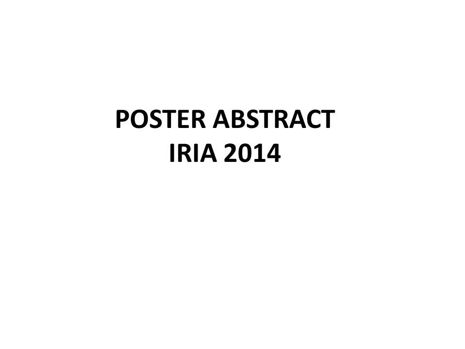 POSTER ABSTRACT IRIA 2014