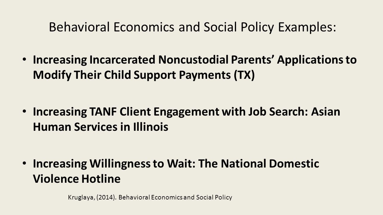 Increasing Incarcerated Noncustodial Parents' Applications to Modify Their Child Support Payments (TX) Increasing TANF Client Engagement with Job Sear