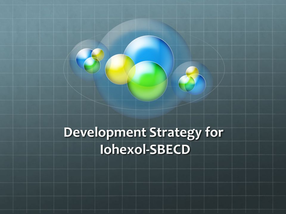 Development Strategy for Iohexol-SBECD