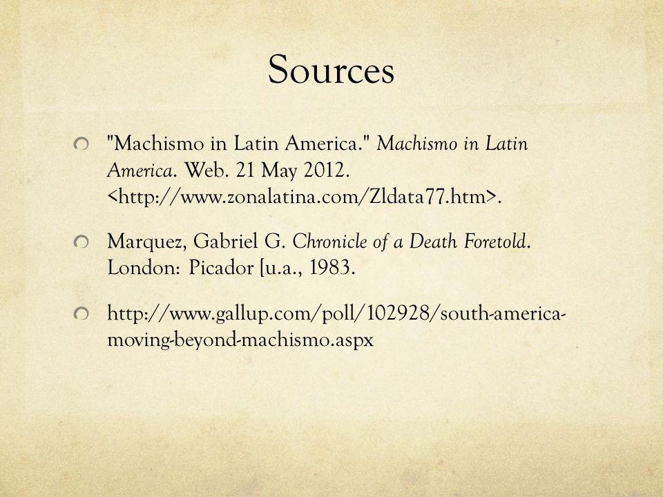 Sources Machismo in Latin America. Machismo in Latin America.