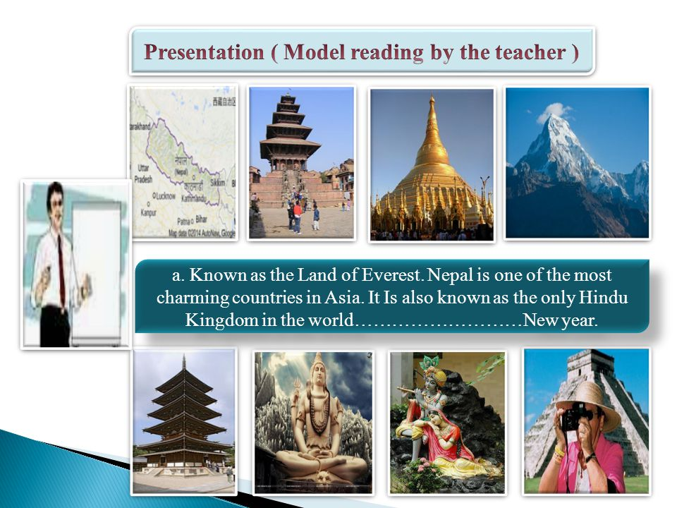 Presentation ( Word Meaning ) SublimeVibrant CharmingHeritage PeakWorshipper TempleShrine ValleyDeities Ethnic Dazzling execllent Very beautiful mountain A building for worship Land between hills Of a nation striking Works of arts A person who worships or pray Holy place Gods or goddesses Very beautiful