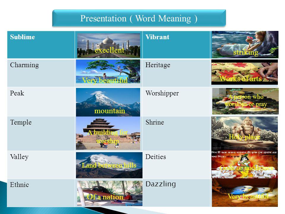 Presentation ( Synonym and Antonym )