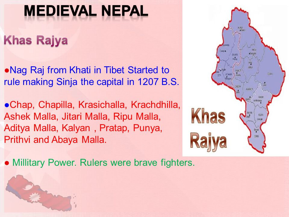 ●Nag Raj from Khati in Tibet Started to rule making Sinja the capital in 1207 B.S.