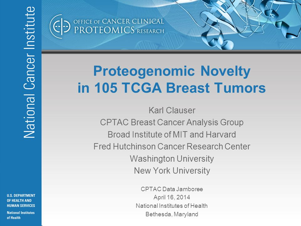 Tumor-specific protein databases for MS/MS-spectra searches Kelly Ruggles, David Fenyo, NYU