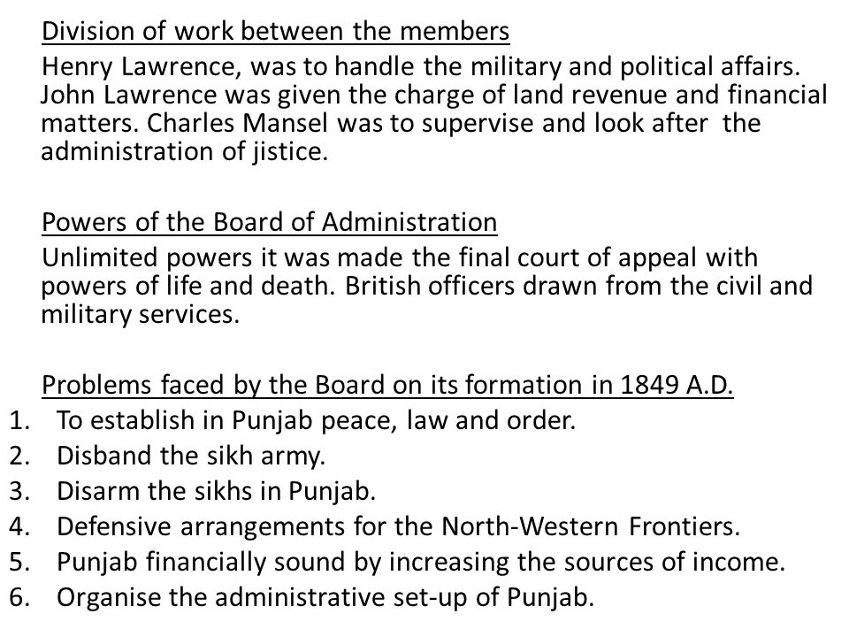 Achievements of the Board of Administration 1.