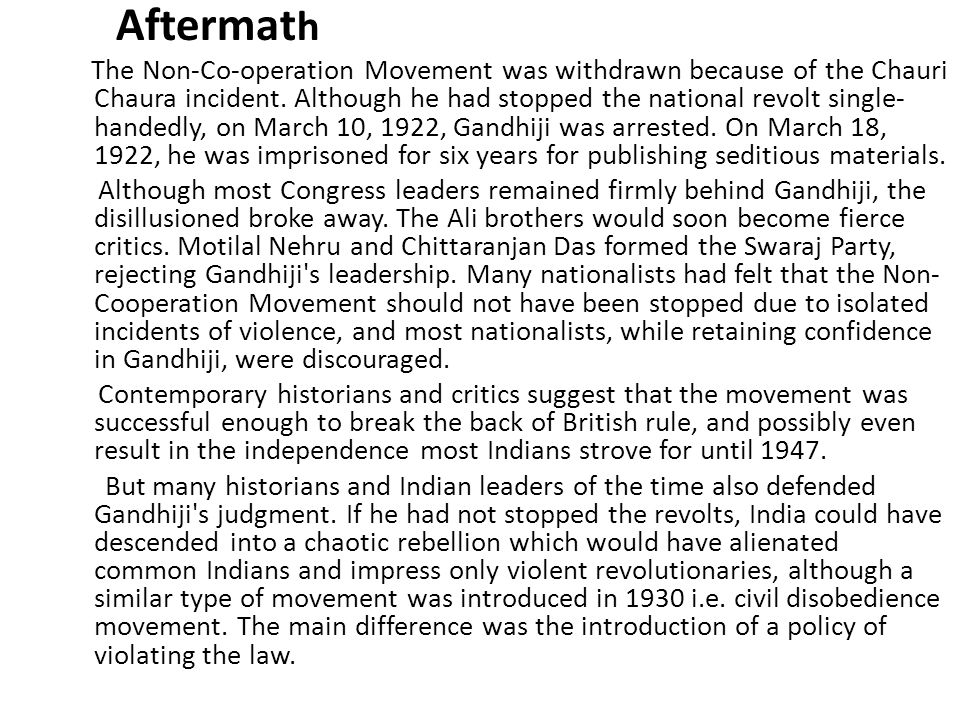 CIVIL DISOBEDIENCE MOVEMENT CIVIL DISOBEDIENCE MOVEMENT Modern nationalism came to be associated with the formation of nation states ….