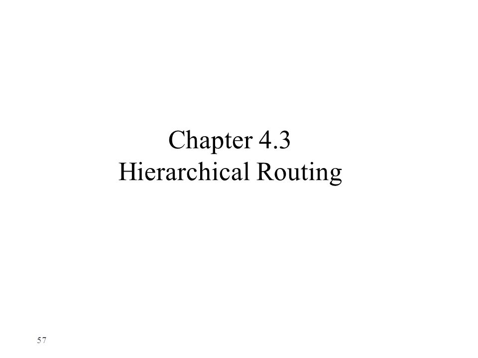 Chapter 4.3 Hierarchical Routing 57