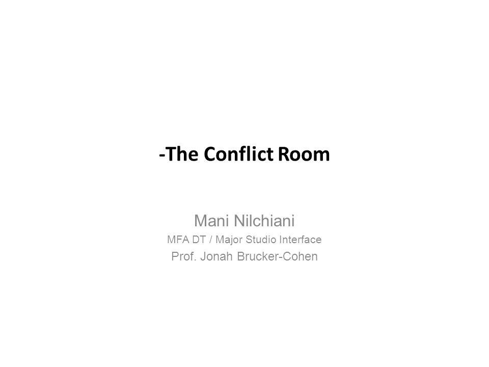 -The Conflict Room Mani Nilchiani MFA DT / Major Studio Interface Prof. Jonah Brucker-Cohen