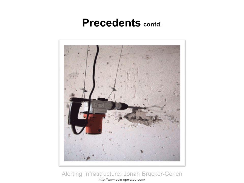 Precedents contd. IRUS: Morehshin Allahyari & Andrew Blanton http://www.irusart.org/