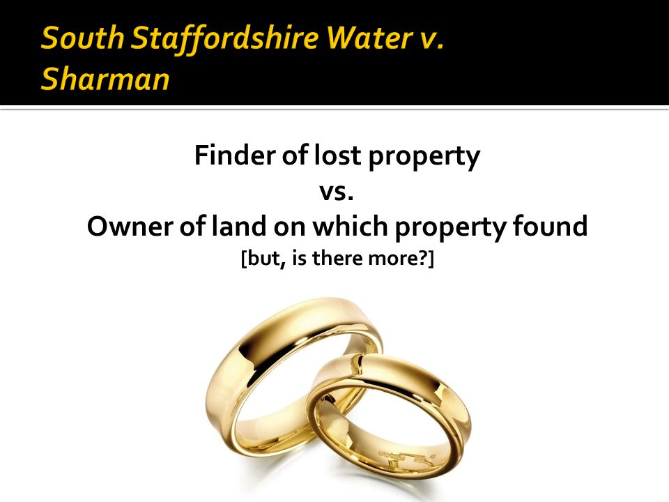 Finder of lost property vs. Owner of land on which property found [but, is there more?]