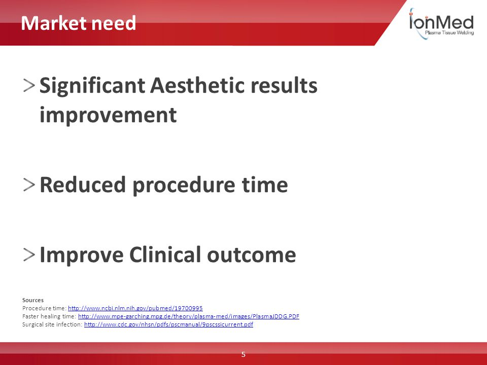 Sources Procedure time: http://www.ncbi.nlm.nih.gov/pubmed/19700995http://www.ncbi.nlm.nih.gov/pubmed/19700995 Faster healing time: http://www.mpe-gar