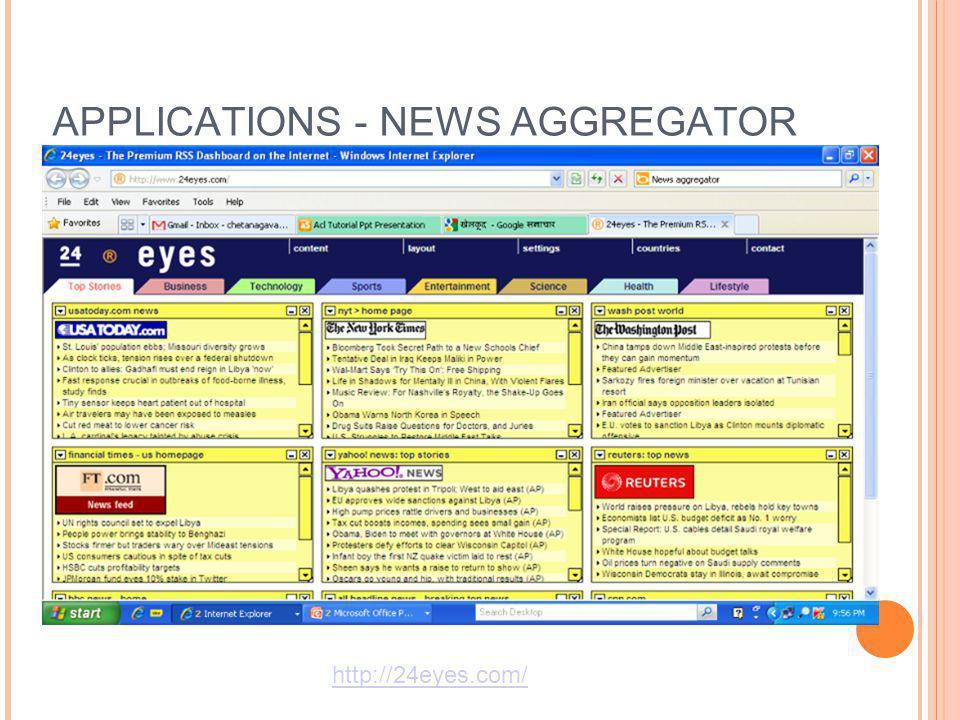 APPLICATIONS - NEWS AGGREGATOR http://24eyes.com/