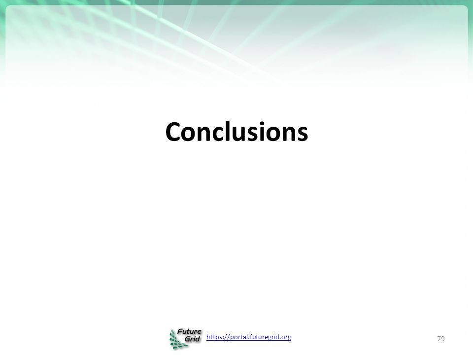 https://portal.futuregrid.org Conclusions 79