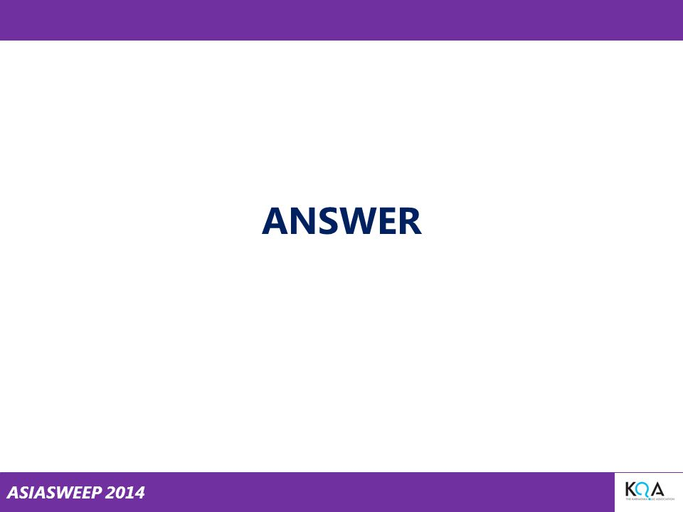 ASIASWEEP 2014 ANSWER