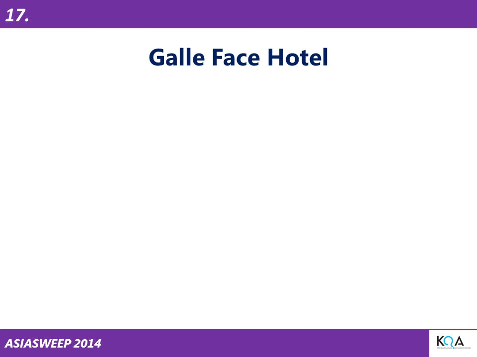 ASIASWEEP 2014 Galle Face Hotel 17.