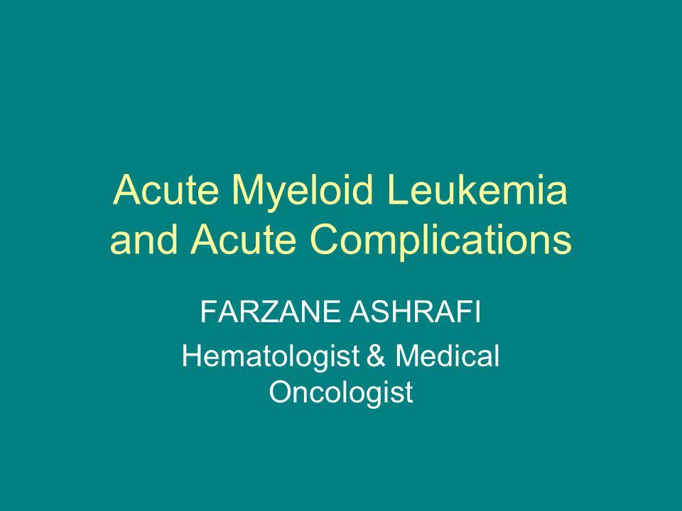 Leukostasis in AML Thornton, KA, Levis, M.