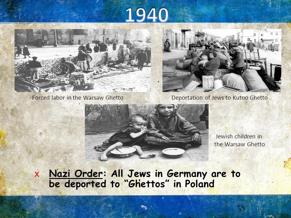 xSS General Reinhard Heydrich orders speed up to emigration of Jews from German lands xNazi order: All Jews must wear a yellow Star of David xNew Law: Jews must hand over all gold and silver