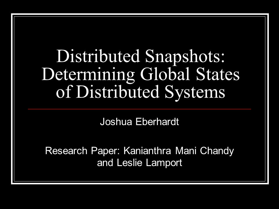 Background What is a distributed system.