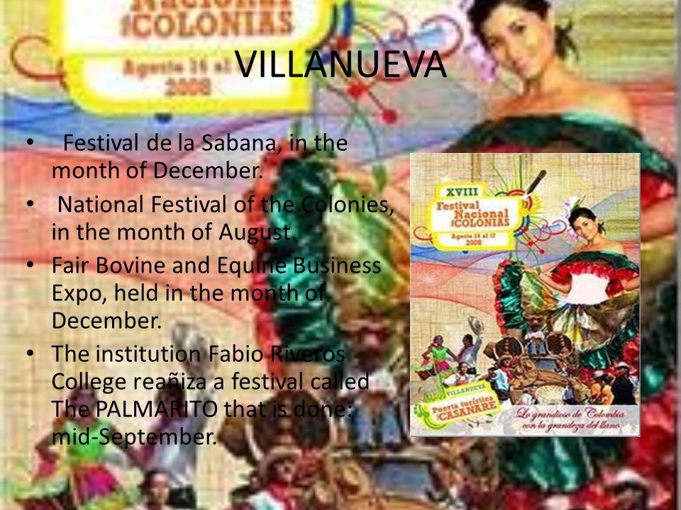 PAZ DE ARIPORO Celebrations in honor of the Virgin of Manare Plain International Festival, in the month of January.