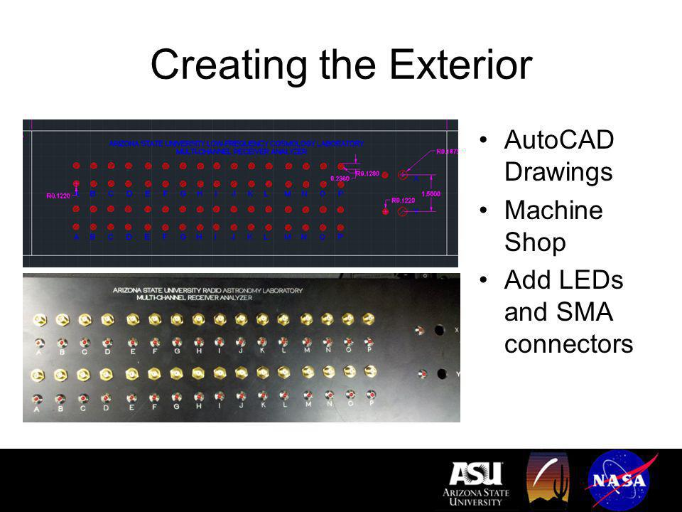 Creating the Exterior AutoCAD Drawings Machine Shop Add LEDs and SMA connectors
