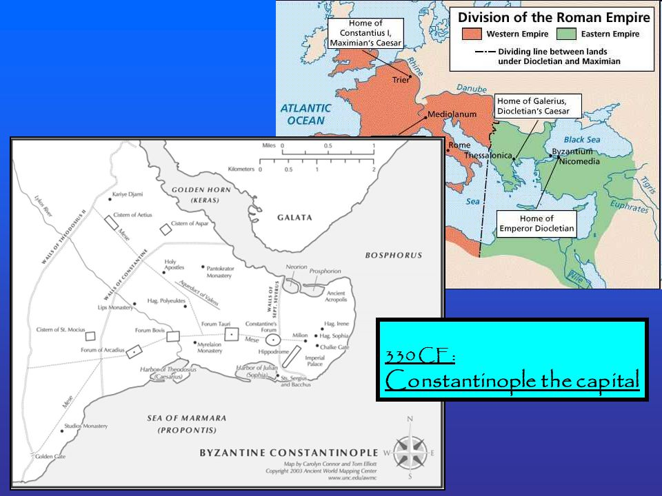 330 CE: Constantinople the capital