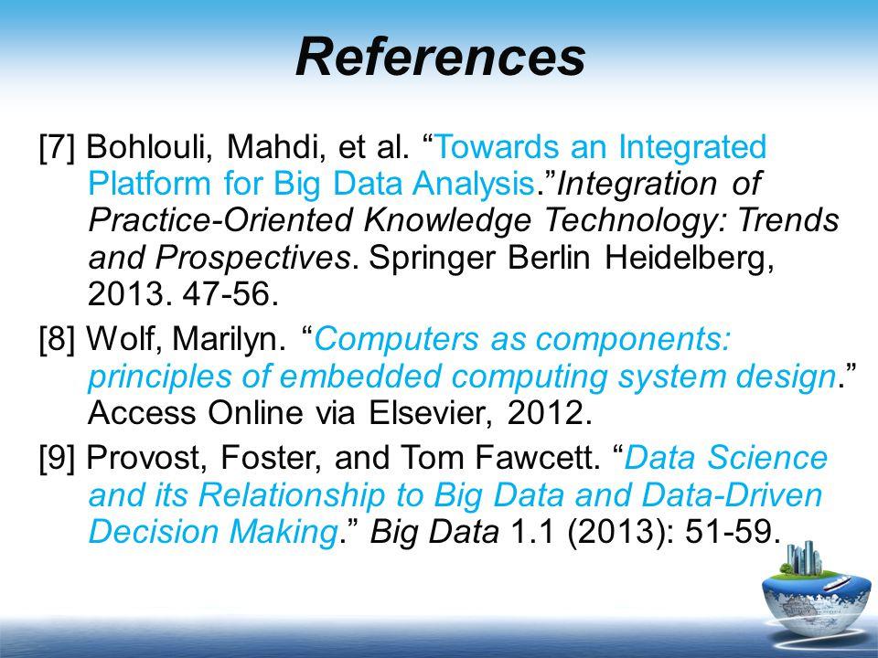 References [7] Bohlouli, Mahdi, et al.