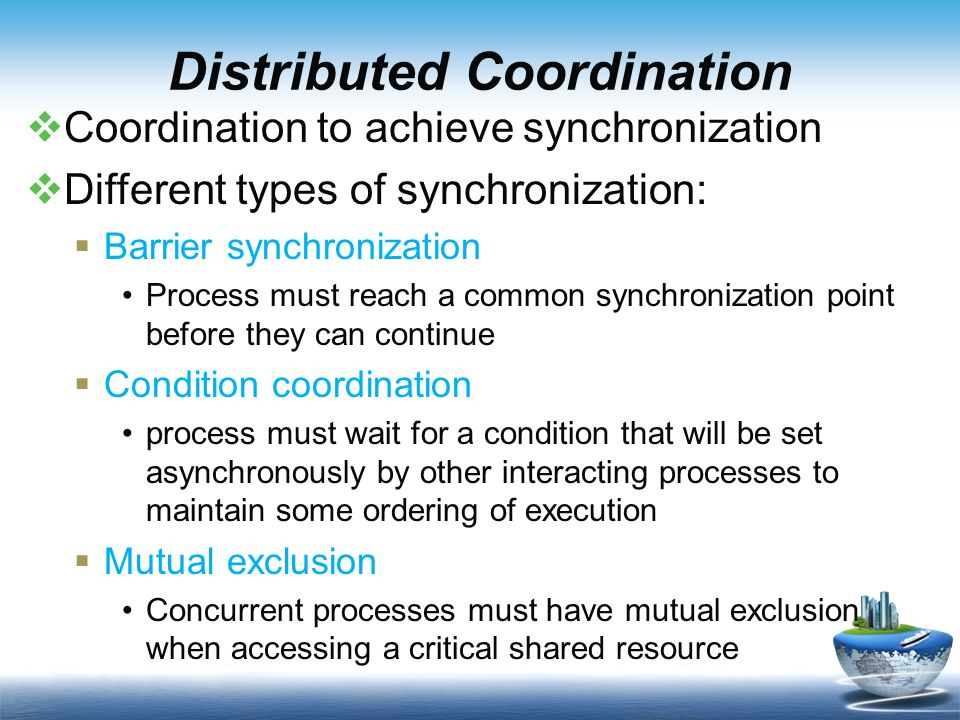 Distributed Resources  Load Distribution  multiprocessor scheduling (Static)  load sharing (Dynamic)  Distributed shared memory  Distributed file systems