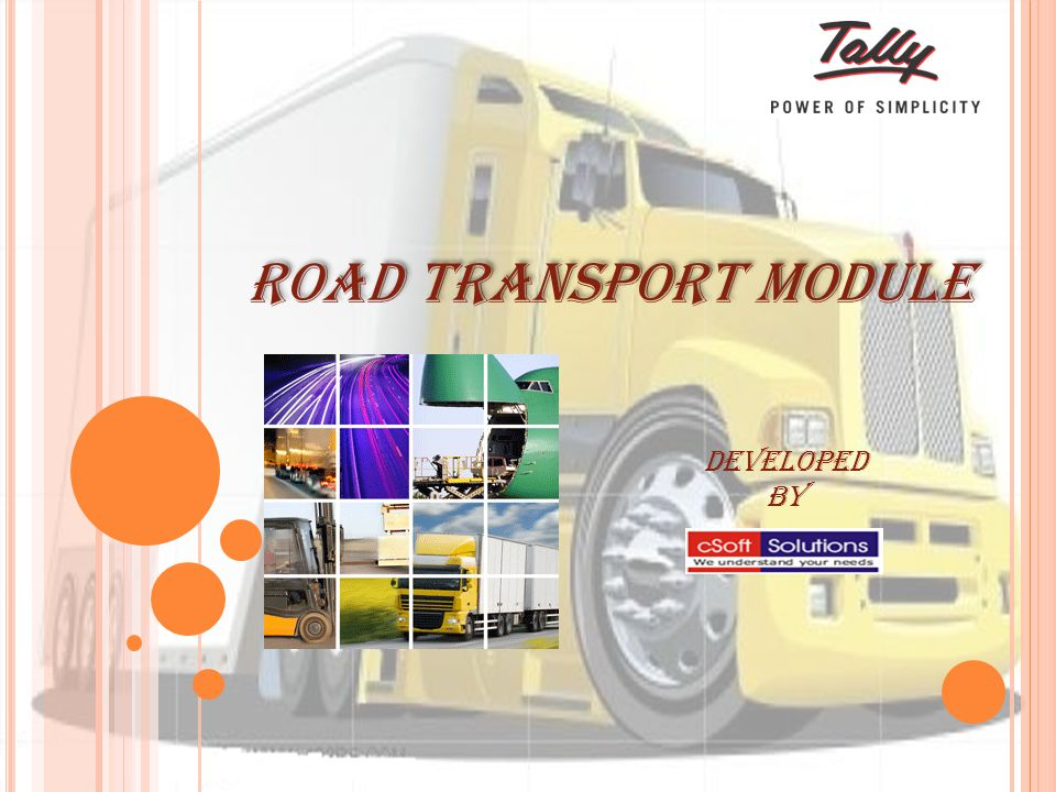 Developed By Road Transport Module