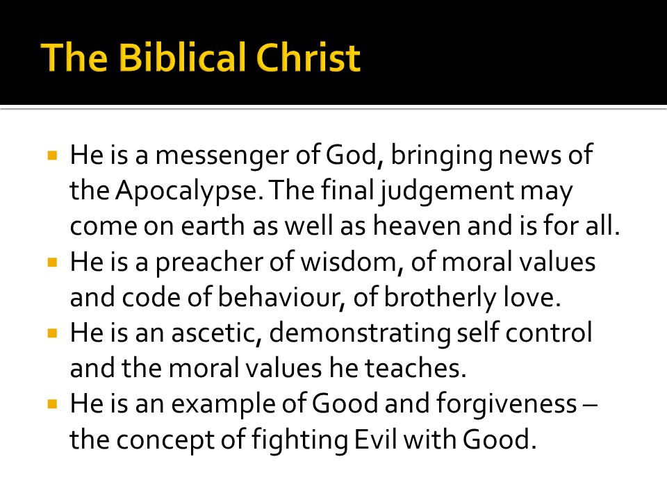 He is a messenger of God, bringing news of the Apocalypse.