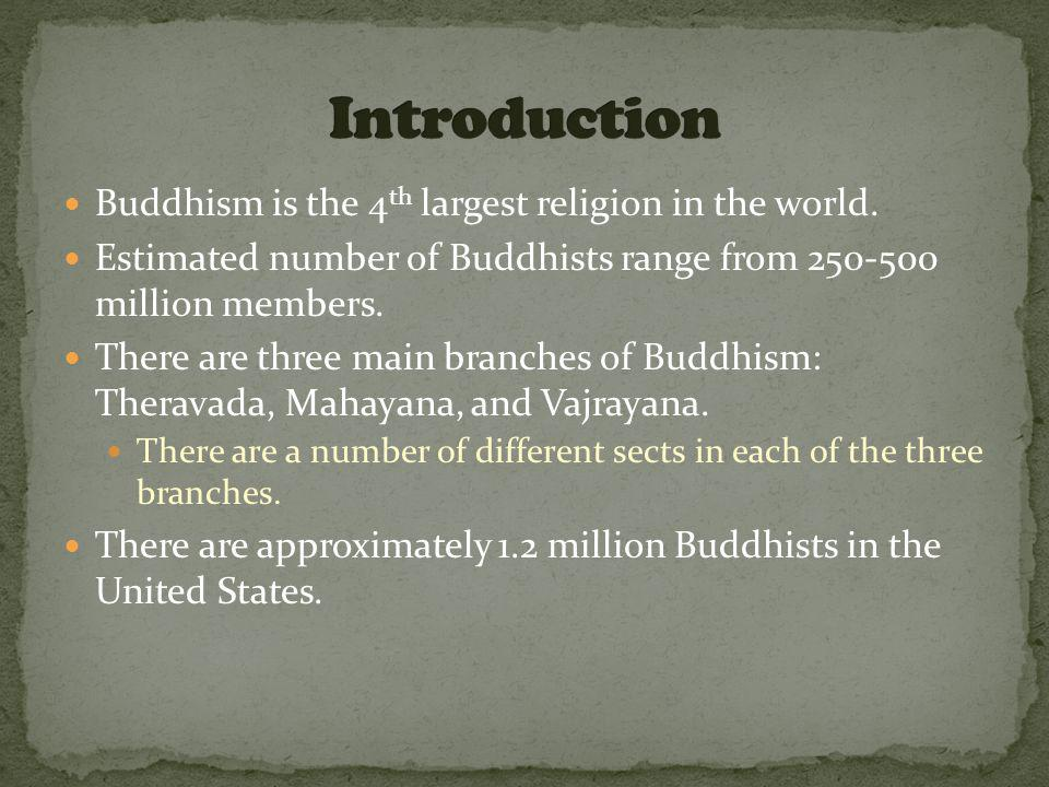 Buddhism is the 4 th largest religion in the world.