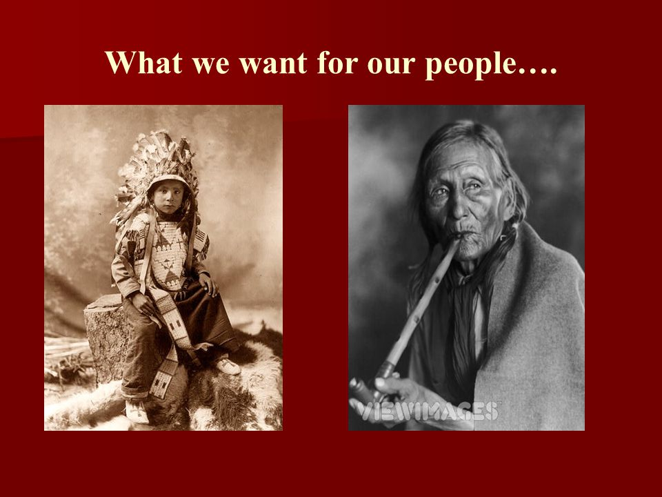 What we want for our people….