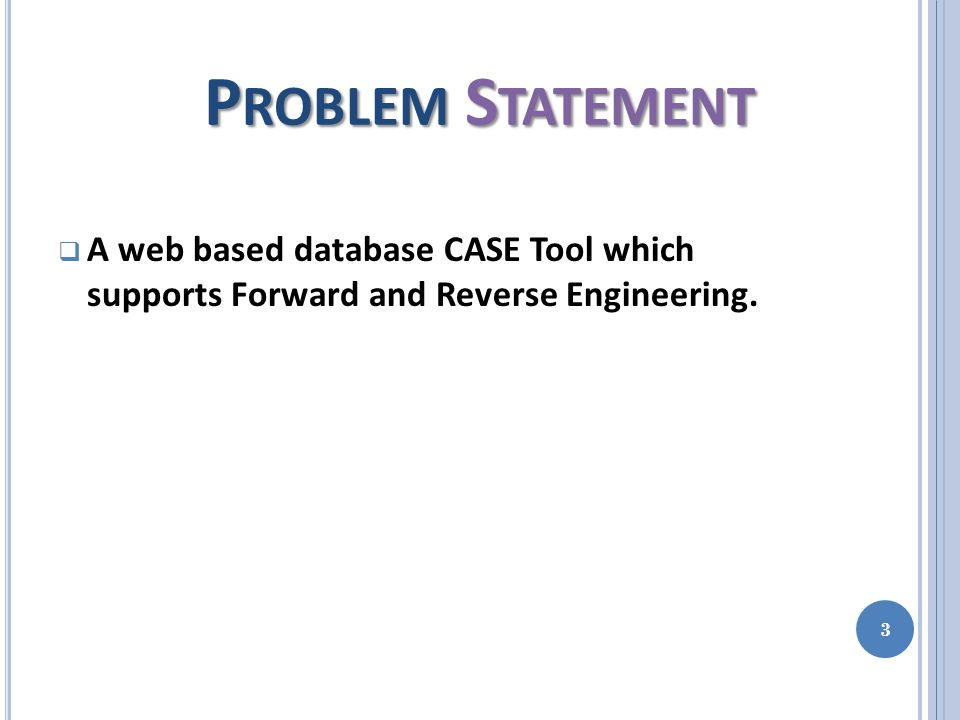 Forward Engineering in our CASE Tool 14