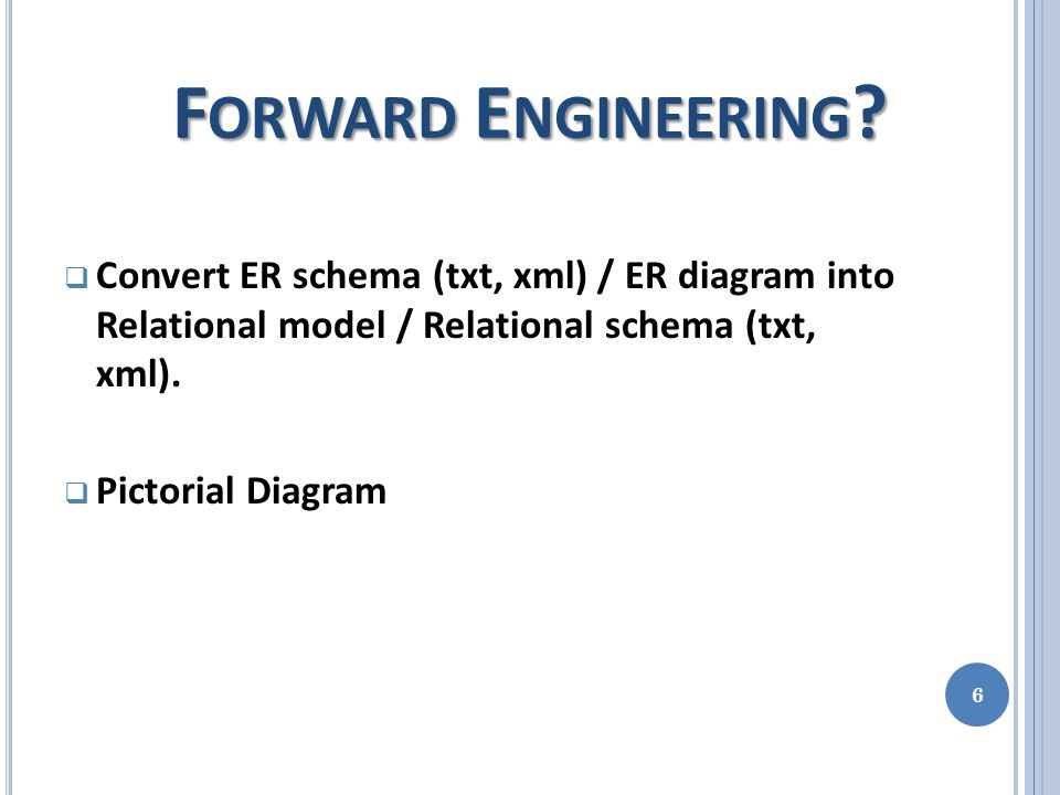 W HAT IS NEW IN OUR CASE T OOL . Conversion of ER Schema(txt,xml) into ER diagram & vice versa.