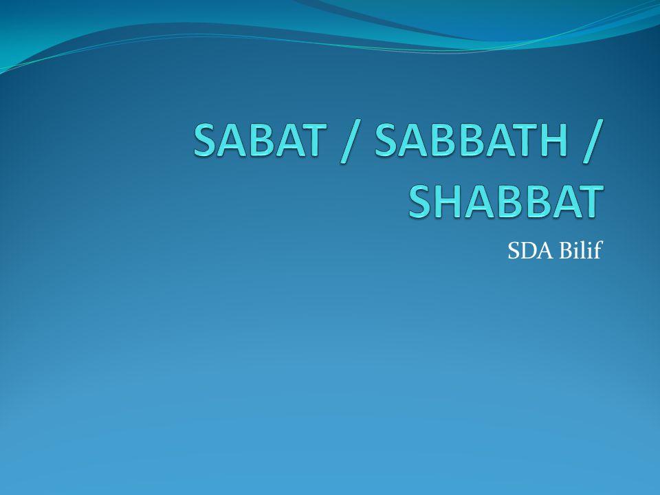 Loa Blong Moses - 110.Not to do work on Shabbat (Ex.